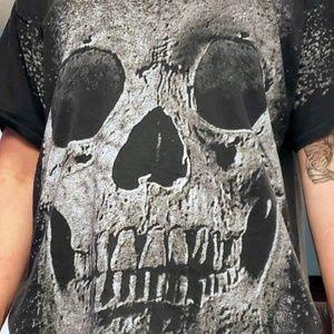 VTG 3-D Emblem Skull Graphic T-Shirt Mens Sz XL